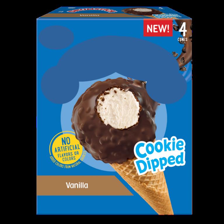 Cookie Dipped Vanilla Ice Cream Cones